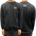 The Boardroom Mens Signature Embroidery Crew Sweatshirt-Black-M