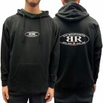 The Boardroom Mens Classic Oval Hoodie-Black-XL
