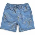 Brixton Mens Havana Trunk Short-Slate Blue Cactus-S