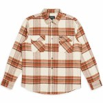 Brixton Mens Bowery Flannel Long Sleeve Button-Up-Dove-S