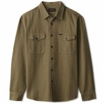 Brixton Mens Davis Reserve Long Sleeve Button-Up-Military Olive-S