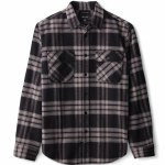 Brixton Mens Bowery X Flannel Long Sleeve Button-Up-Black/Charcoal-S