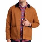 Brixton Mens Survey X Chore Coat Jacket-Washed Copper-M