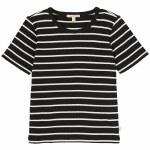 Brixton Womens Samantha SS Baby Tee Short Sleeve T-Shirt-Black/White-S