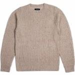 Brixton Paddington Tailored Fit Sweater-Oatmeal-S