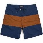 Brixton Convoy Performance Fit Trunk-Washed Navy/Copper-34