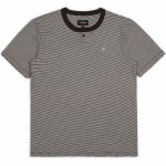 Brixton Toronto Standard Fit Short Sleeve Henley Knit-Black/Bone-L