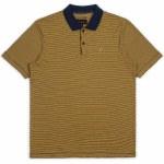 Brixton Johnston Short Sleeve Polo-Navy Gold-M