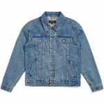 Brixton Cable Denim Jacket-Faded Indigo-L