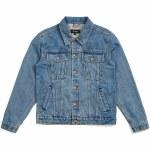 Brixton Cable Denim Jacket-Faded Indigo-XL