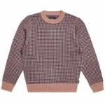 Brixton Mens Wes Sweater-Mauve/Washed Navy-S