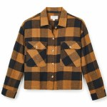 Brixton Womens Astoria Flannel Long Sleeve Woven-Washed Copper-S