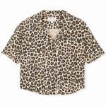 Brixton Womens Naomi Short Sleeve Woven-Leopard-M