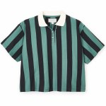 Brixton Womens Abbie Short Sleeve Polo Shirt-Black-S