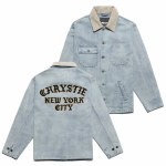 Chrystie NYC. Mens Chain Stitched Chore Jacket-Washed-L