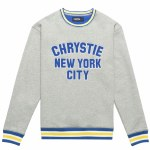 Chrystie NYC. Mens Varsity Hoodie-Ash Grey-M