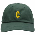 Chrystie NYC. Mens C Logo Dad Hat-Spruce-OS