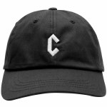 Chrystie NYC. Mens C Logo Dad Hat-Black-OS