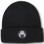 Crab Grab Mens Circle Patch Beanie-Black-OS