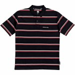 DC Mens Corning Short Sleeve Polo Shirt-Black-L