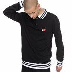 DC Skate Long Sleeve Polo Shirt-Black-M