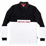 DC Mens Waumbeck Long Sleeve Polo Shirt-Black-M
