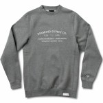Diamond Time Piece Crewneck-Gunmetal Heather-L