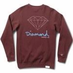 Diamond OG Sign Crewneck-Burgundy-3XL