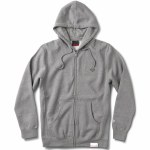 Diamond Micro Brilliant Zip Up Hoody-Heather Grey-S