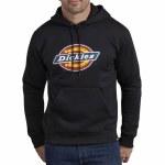 Dickies Mens Relaxed Fit Logo Fleece Pullover Hoodie-Black-M
