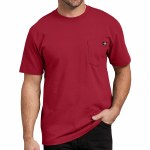 Dickies Mens Heavy Weight Short Sleeve T-Shirt-English Red-S