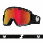 Dragon Mens D1 OTG Goggle-Split/LUMALENS Red Ion-OS
