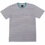Dark Seas Mens Sumatra Knit Short Sleeve T-Shirt-White/Blue-L
