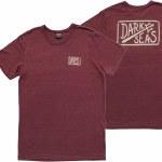 Dark Seas Harbor Short Sleeve T Shirt-Burgundy-XL
