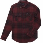 Dark Seas Salt Creek Woven Long Sleeve Shirt-Black/Oxblood-S
