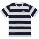 Dark Seas Mondo Crew Short Sleeve Knit-White/Navy-L