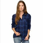 Eden Know It Flannel Womens-Navy-S