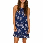 Eden Reflect High Neck Allover Print Dress Womens-Ink-XS