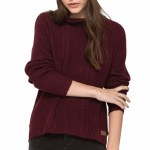 Eden Moment Fashion Fit Mid Weight Sweater Womens-Napa Red-M