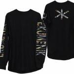 Ekumenik New School Long Sleeve Crew Shirt-Black-L