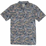 Element Mens Turtle SS Short Sleeve Button-Up-Eclipse Navy-S