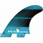 FCS II Performer Neo Glass Tri-Quad Fin Surfboard Fin-Teal Gradient-M