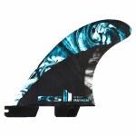 FCS  II MB PC Carbon Tri Surfboard Fin-Blue-M