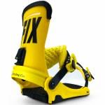 Fix Binding Co Mens Yale Snowboard Binding-Yellow-M
