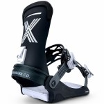 Fix Binding Co Mens Magnum Snowboard Binding-Black-L