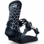 Fix Binding Co Womens Opus Snowboard Binding-Black Leopard-S/M