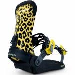 Fix Binding Co Womens Opus Snowboard Binding-Leopard-S/M