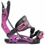 Flow Mens NX2 Hybrid Snowboard Binding-Magenta-L