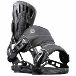 Flow Mens Nx2-Gt Fusion Snowboard Binding-Black-M