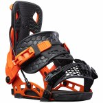 Flow Mens Nx2 Hybrid Snowboard Binding-Orange-L